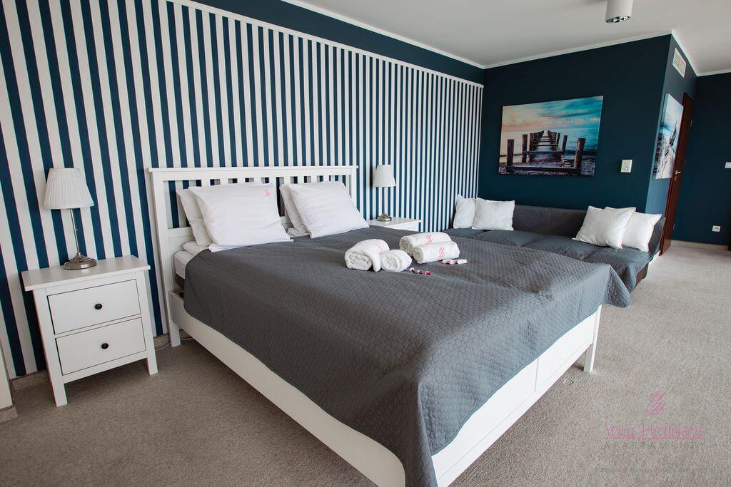Międzyzdroje Apartament Promenada Gwiazd 28/1001 - sypialnia w apartamencie blisko morza