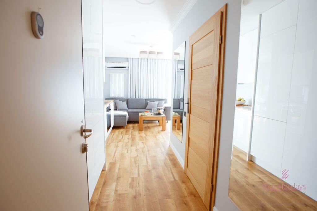 Międzyzdroje apartament Horyzont 206 - przedpokój w apartamencie w MIędzyzdrojach