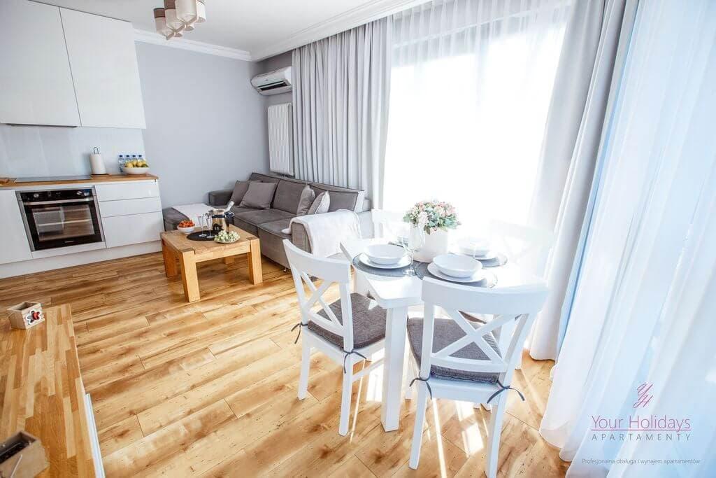 Międzyzdroje apartament Horyzont 206 - salon w apartamencie w Międzyzdrojach nad morzem
