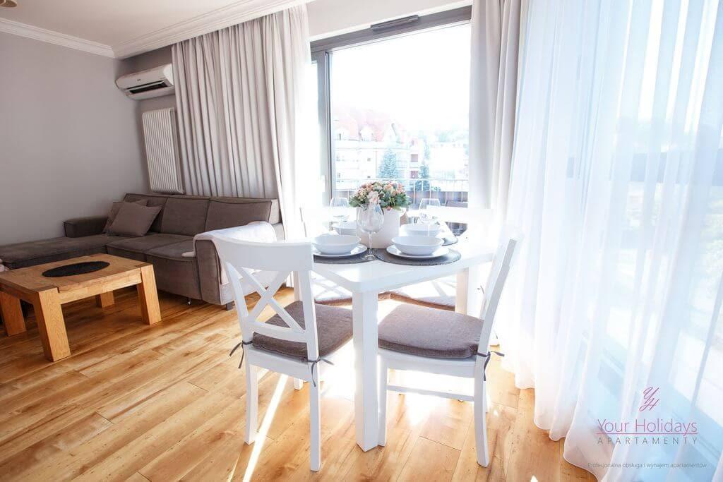 Międzyzdroje apartament Horyzont 206 - salon w apartamencie w Międzyzdrojach